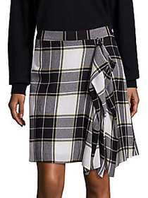 Public School Gina Draped Plaid Skirt MULTI