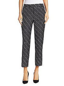 Theory Triangle Silk Trousers BLACK IVORY