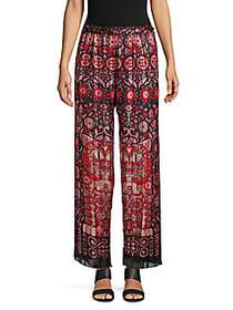 Anna Sui Whoos That Pussycat Pleated Pants ROUGE M