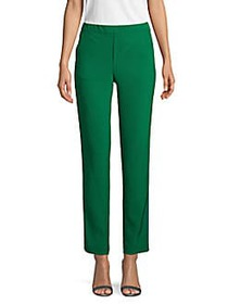 Anna Sui Striped Ankle Trousers FOREST MULTI