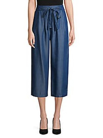 Etienne Marcel Cropped Chambray Pants DARK BLUE