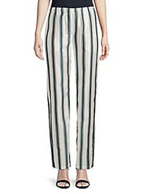 Burberry Striped Pull-On Pants DARK FOREST