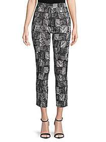 Max Mara Paggio Printed Cropped Pants BLACK