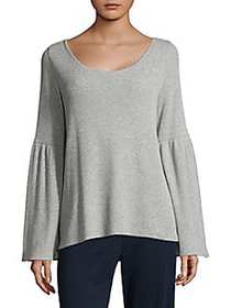 Skin Imogen Bell-Sleeve Top HEATHER GREY