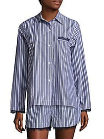 Skin Stripe Cotton Shirt BLUE STRIPE