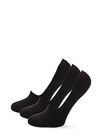 Hue 3-Pack Cushion Resort Liner Socks BLACK