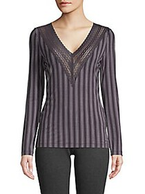 Cosabella COLLECTION Lori Striped Top GRAPE STRIPE