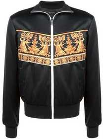 Versace panelled print bomber jacket