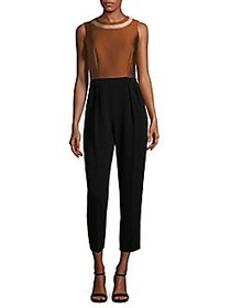Max Mara Pleated Jumpsuit RUST