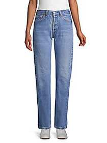 Elizabeth and James Classic Faded Jeans BLUE