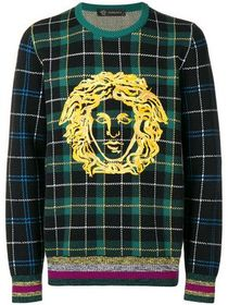 Versace Medusa checked sweater