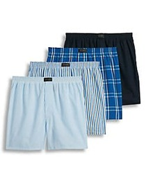 Jockey Active Blend Printed 4-Pack Boxers AGENT BL