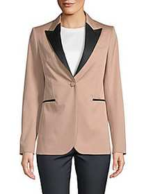Valentino Classic Long-Sleeve Jacket POUDRE