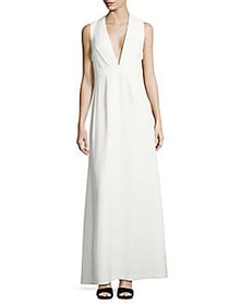Jill Stuart Solid Sleeveless Gown OFF WHITE