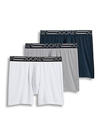 Jockey 3-Pack Active Microfiber Midway Boxer Brief