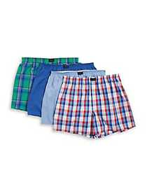 Jockey Active Blend Woven Boxers 4-Pack ASSORTED 3