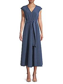 Max Mara Alarico Silk-Blend A-Line Midi Dress ULTR