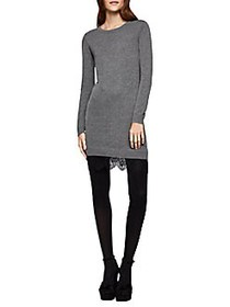 BCBGeneration Lace-Trimmed Sweater Dress HEATHER G