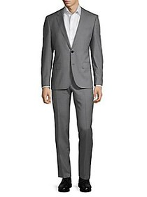 HUGO Henry Griffin Checkered Wool Suit GREY