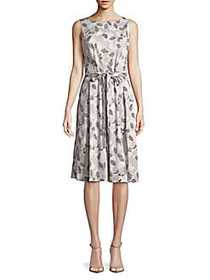 JONES NEW YORK Printed Leaf Fit-and-Flare Dress PA