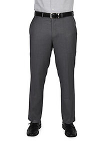 DOCKERS Big & Tall Flat-Front Dress Pants GREY
