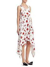 Proenza Schouler Handkerchief Hem Dress CREME