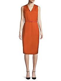 Max Mara Dattero Cotton Sheath Dress ORANGE