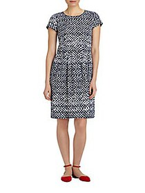 Lafayette 148 New York Gina Printed Stretch Dress