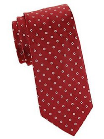 Brooks Brothers Floral Silk Tie RED