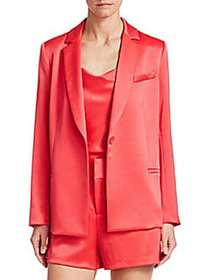 Alice + Olivia Bergen Button-Front Blazer WATERMEL