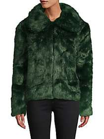 C&C California Emerald Faux Fur Jacket GREEN