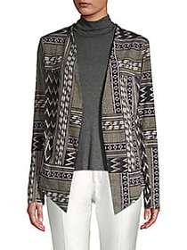 BCBGeneration Mixed Print Open-Front Jacket OLIVE