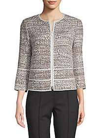 Lafayette 148 New York Aisha Tweed Jacket GREY