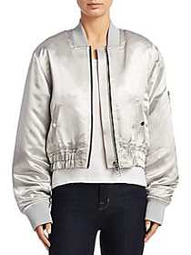Elizabeth and James Royan Metallic Bomber Jacket S