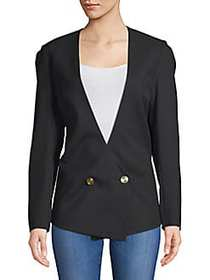 Lanvin Haut Double-Breasted Wool Jacket NOIR