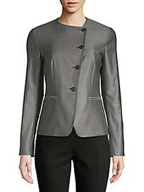 Max Mara Erba Fitted Jacket DARK GREY
