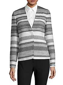 Max Mara Tommy Stripe Blazer WHITE MULTI