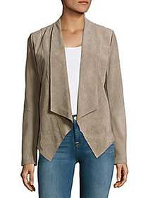 T Tahari Jaimee Textured Leather Open-Front Jacket