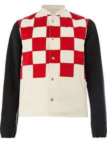 Lanvin checked button jacket