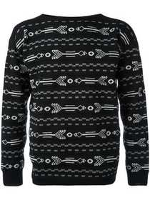 Lanvin arrow intarsia knit