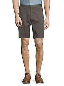 Saks Fifth Avenue Stretch Cotton Chino Shorts CHAR