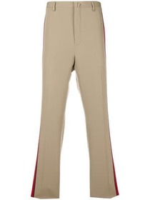 Lanvin side stripe straight trousers