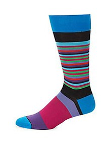 Bugatchi Multicolored Socks BLACK