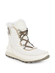Sorel Whitney Short Faux-Fur Lace-Up Boots SEA SAL