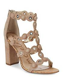 Sam Edelman Yuli Studded Suede and Cork Pumps OATM