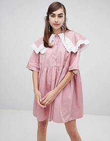 Sister Jane smock dress with double layer bib and