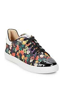Isa Tapia Printed Lace-Up Sneakers BLACK FRUIT