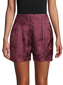Free People Go Your Own Way Jacquard Shorts PURPLE