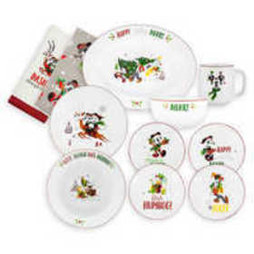 Disney Santa Mickey Mouse and Friends Holiday Tabl