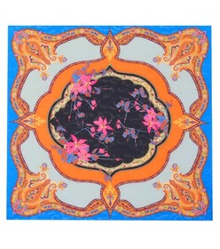 Etro Bordered floral scarf